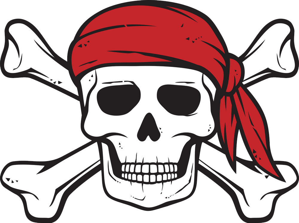 Pirate Skull clipart transparent