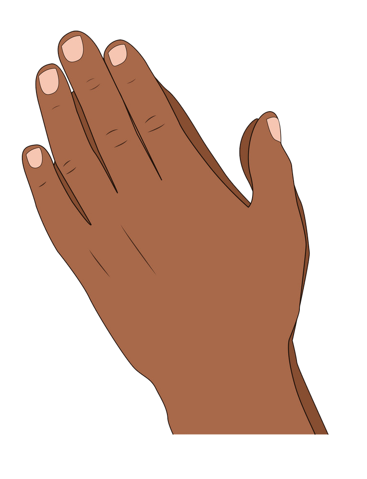 Praying Hands clipart transparent 1