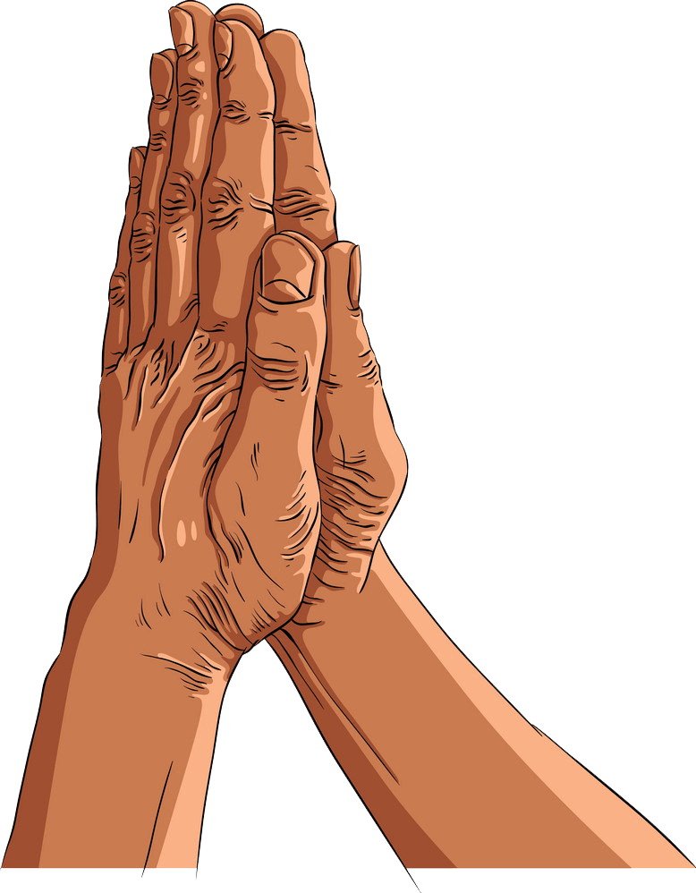 Praying Hands clipart transparent