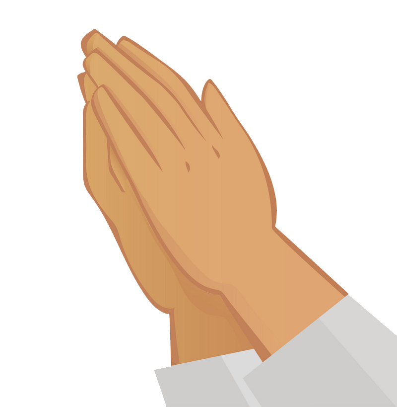 Praying Hands transparent clipart 1