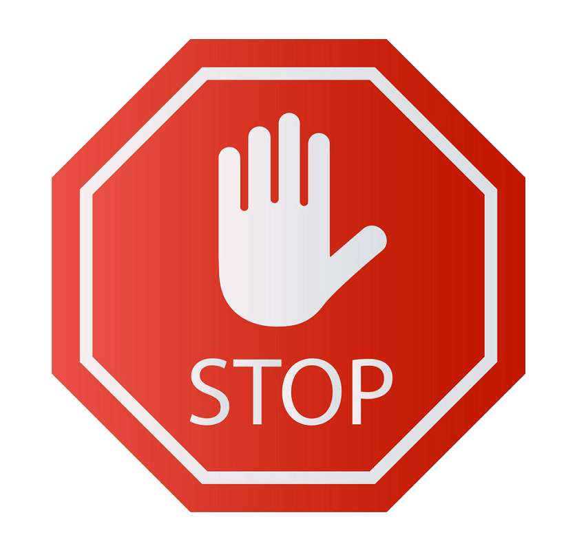Red Stop Sign clipart transparent