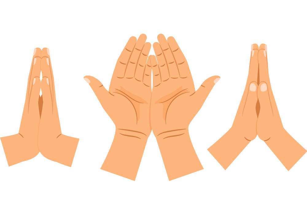 Religion Praying Hands clipart