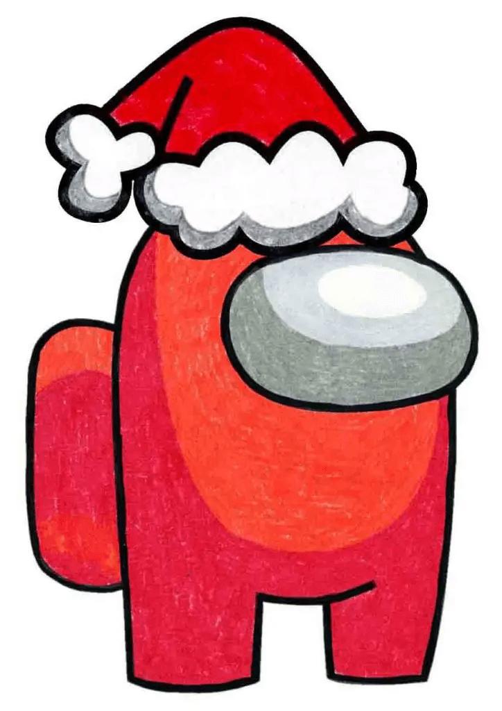 Santa Among Us clipart