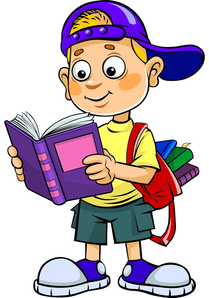School Boy Reading clipart transparent