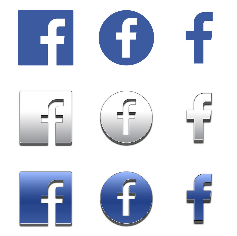 Set of Facebook Icon clipart