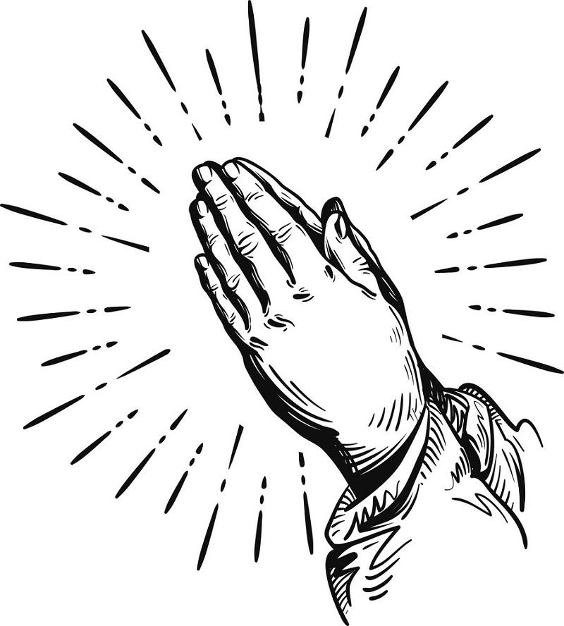 Sketch Praying Hands clipart
