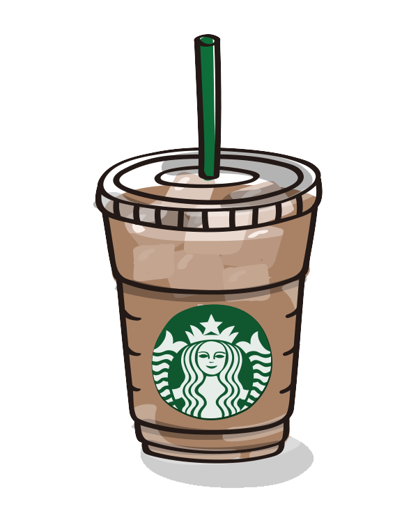 Starbucks Coffee Cup clipart transparent