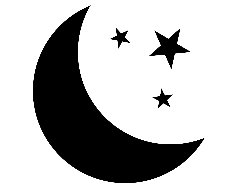 Stars and Moon clipart transparent