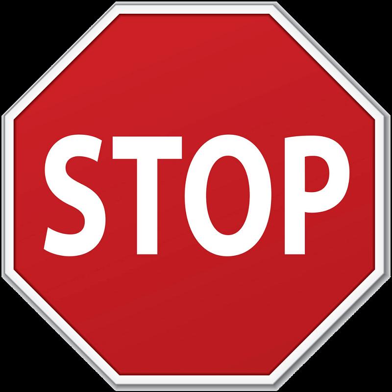 Stop Sign clipart transparent