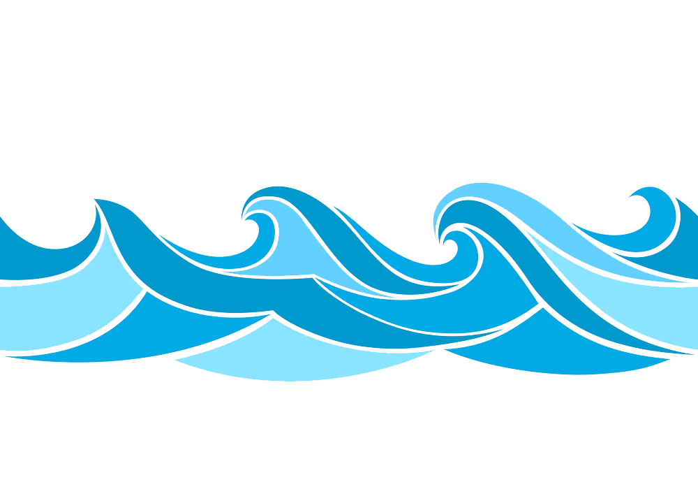 Stylized Waves clipart transparent