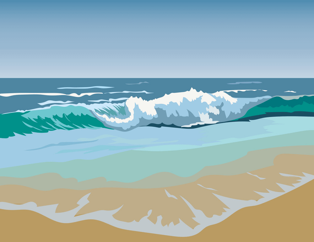 Summer Beach Waves clipart