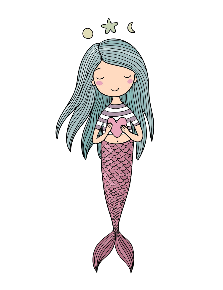 Sweet Mermaid clipart transparent