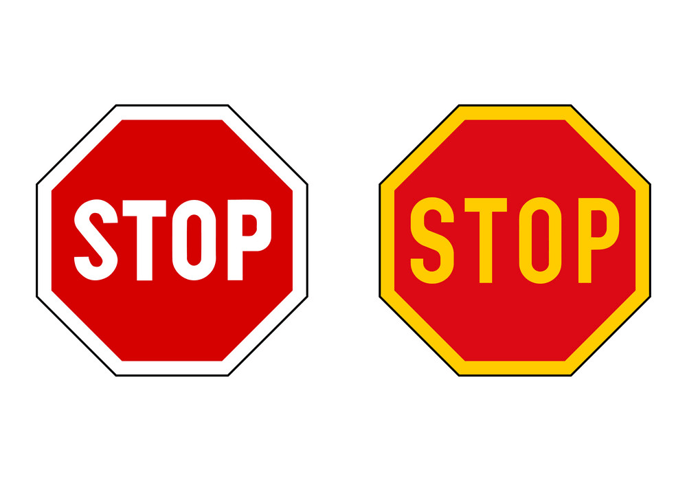 Two Stop Signs clipart