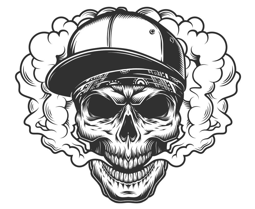 Vaper Skull clipart