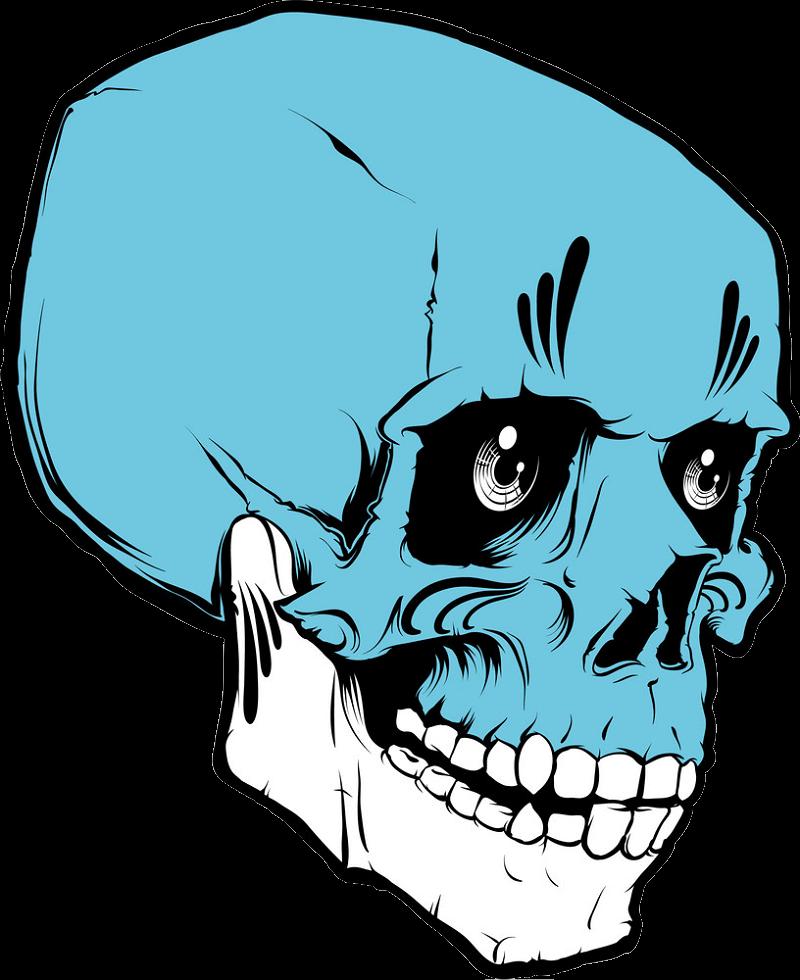 Voodoo Skull clipart transparent