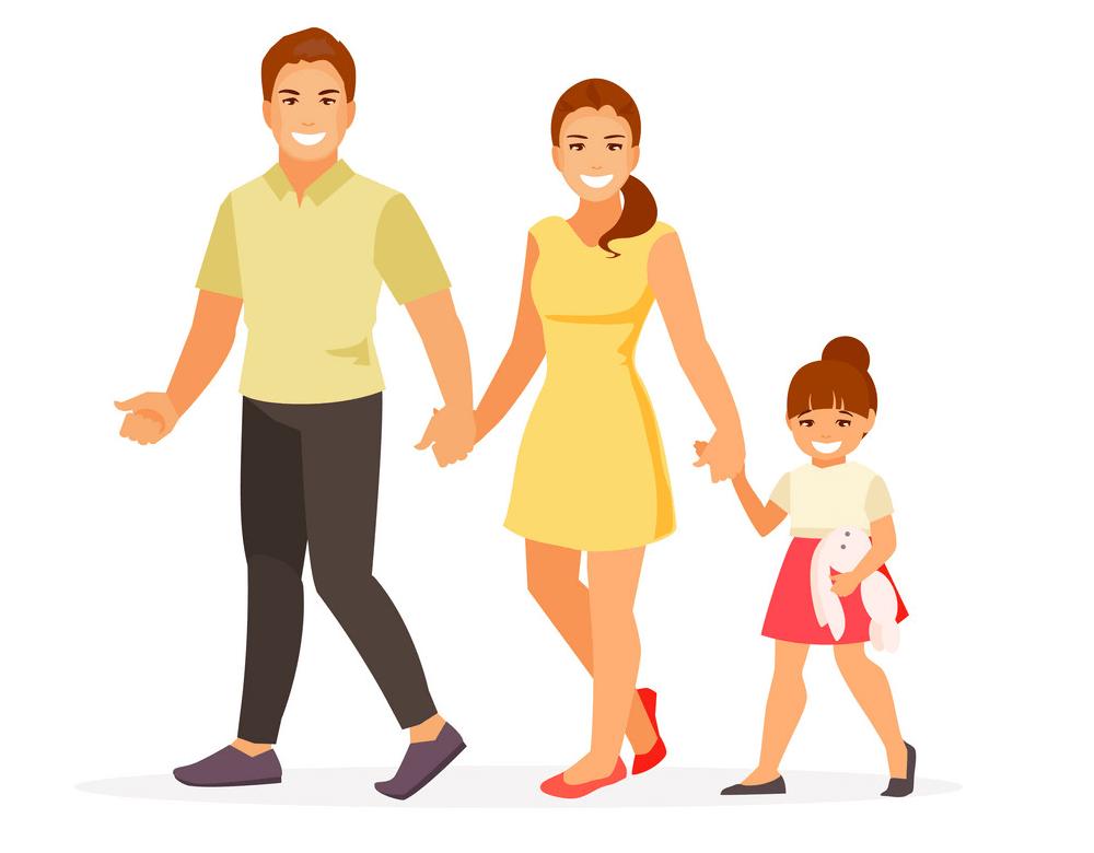 Walking Family clipart