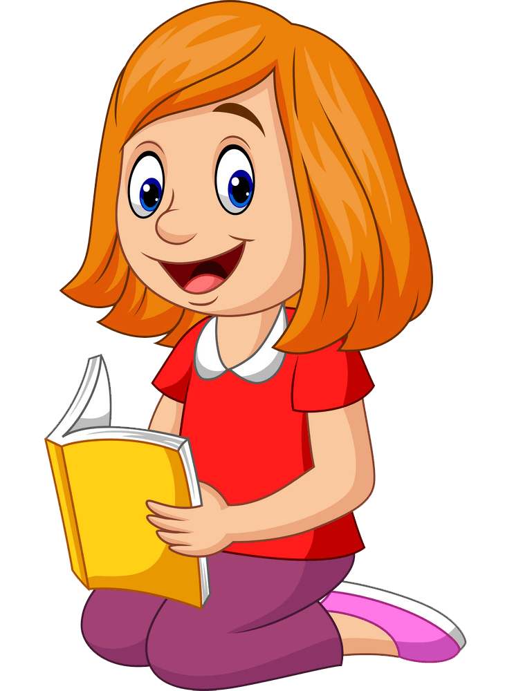 Woman Reading clipart transparent