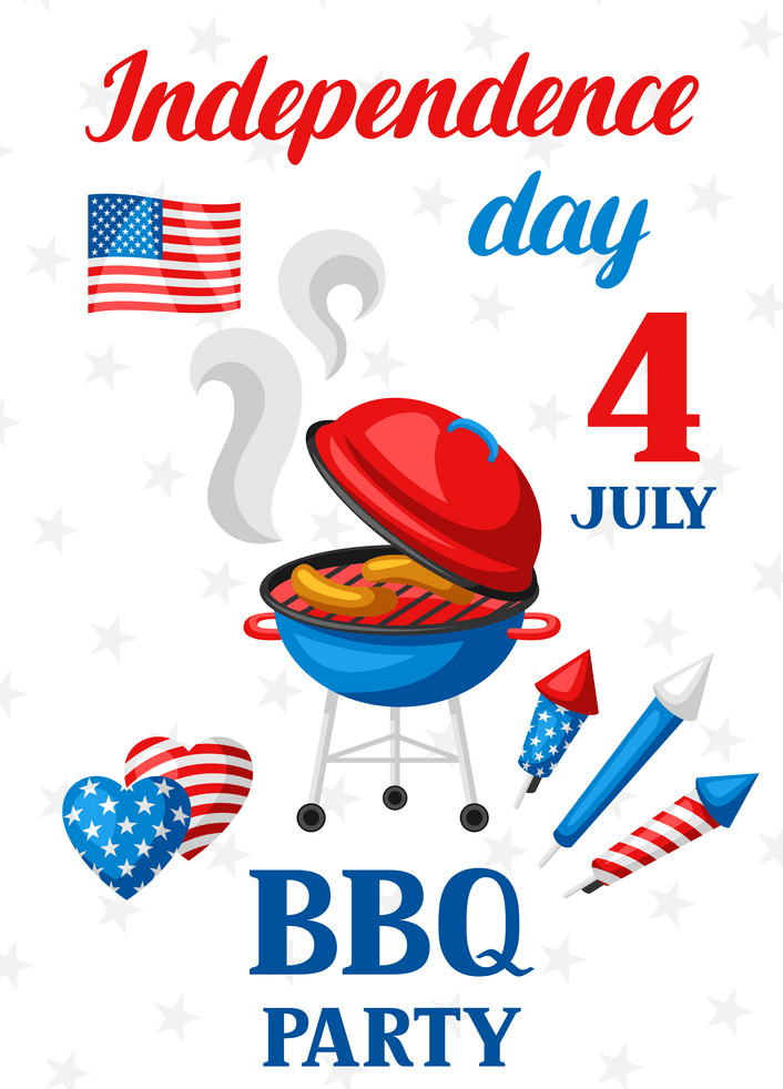 4th of July BBQ Party clipart