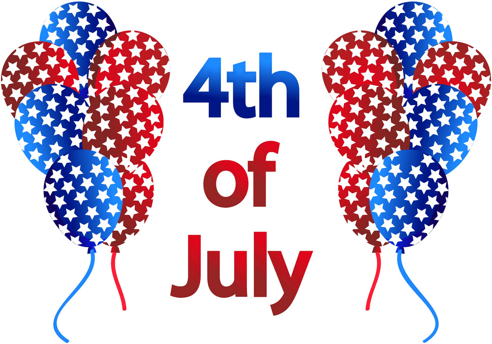4th of July with Balloons clipart