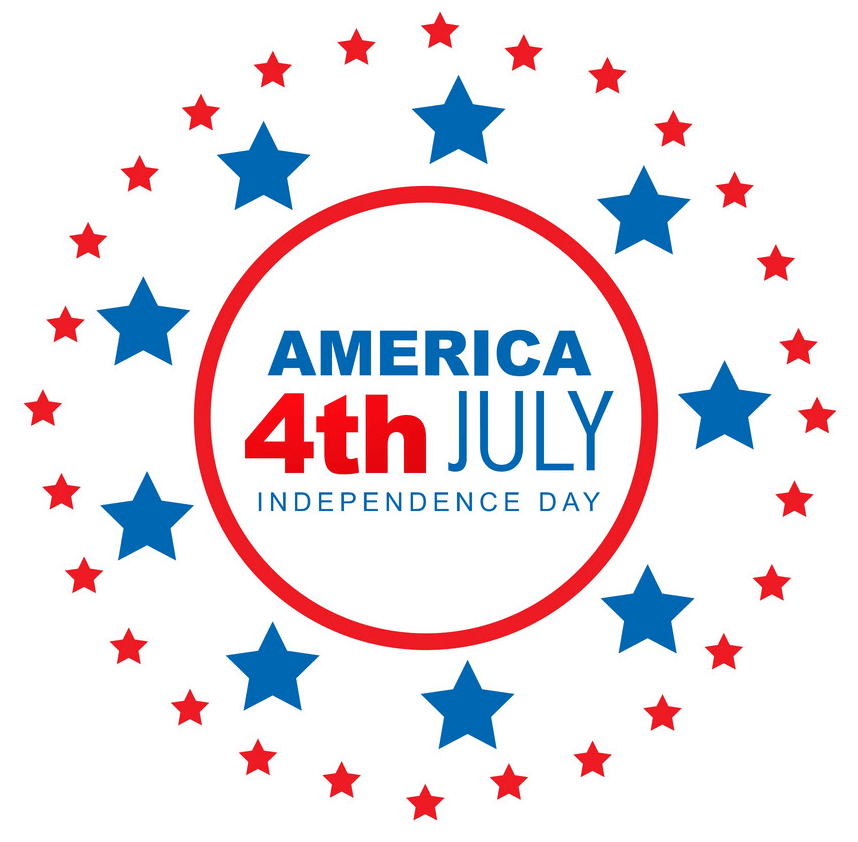 America 4th of July clipart