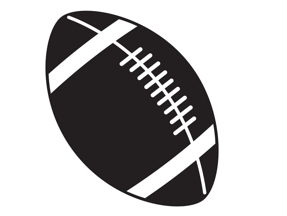 Black and White Football Ball clipart transparent