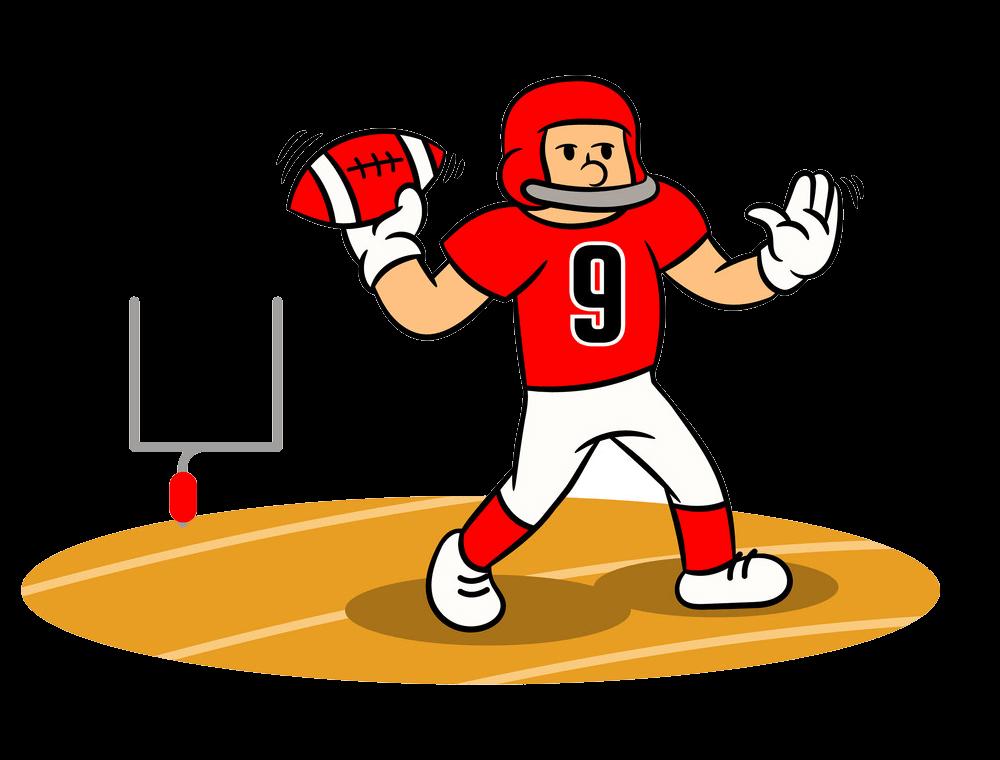 Cartoon Football Player transparent