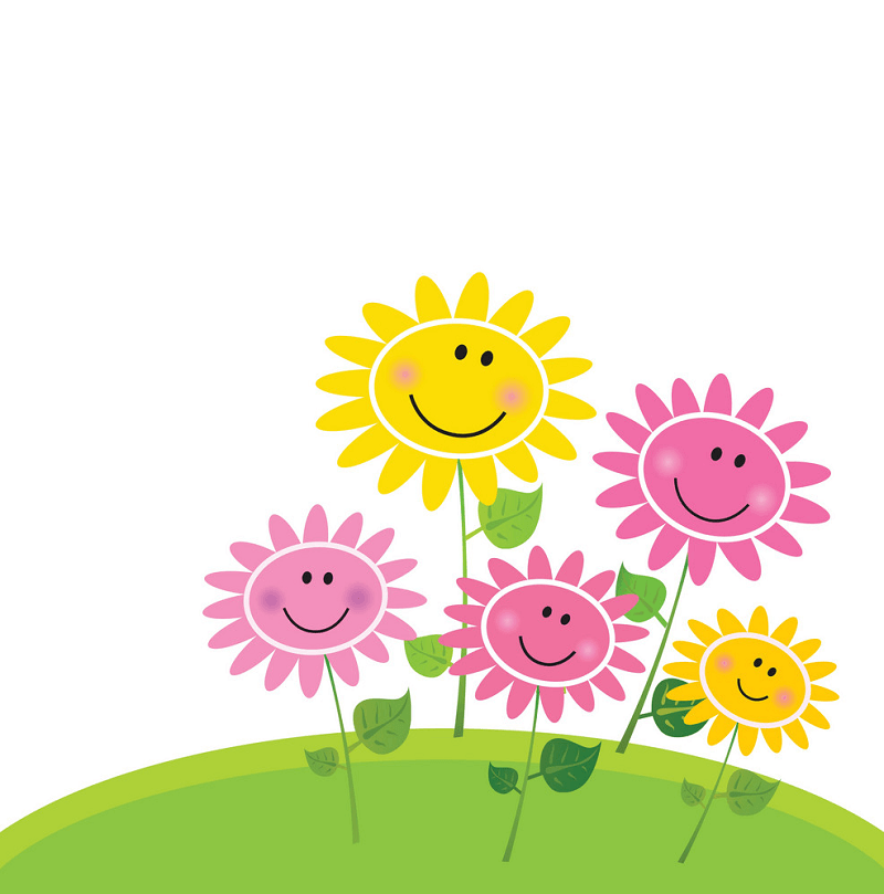 Cute Flowers Spring clipart
