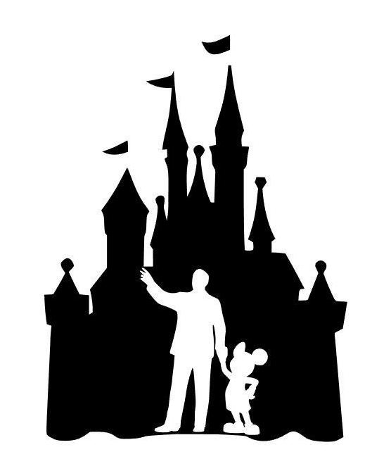Disney Castle Silhouette clipart 2