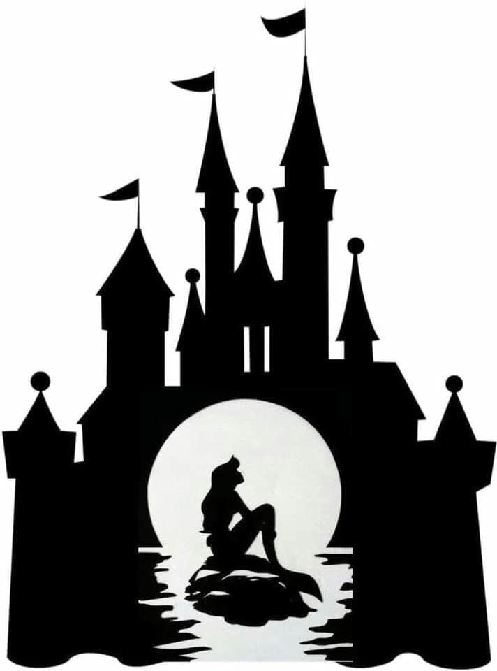 Disney Castle Silhouette clipart 3