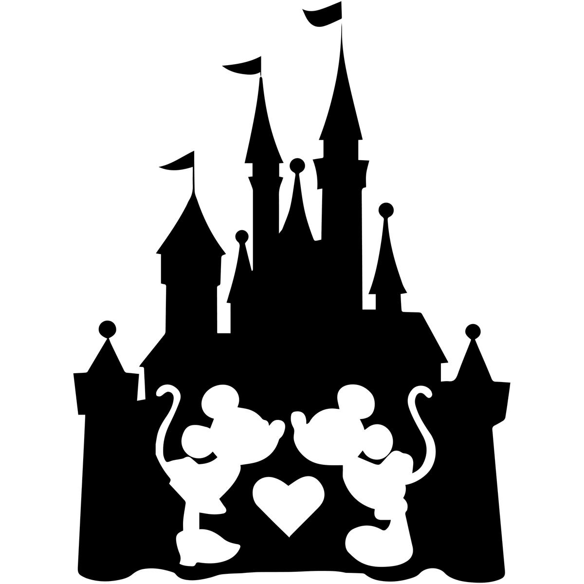 Disney Castle Silhouette clipart 6