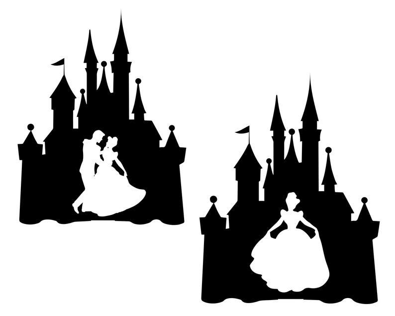 Disney Castle Silhouette clipart 7