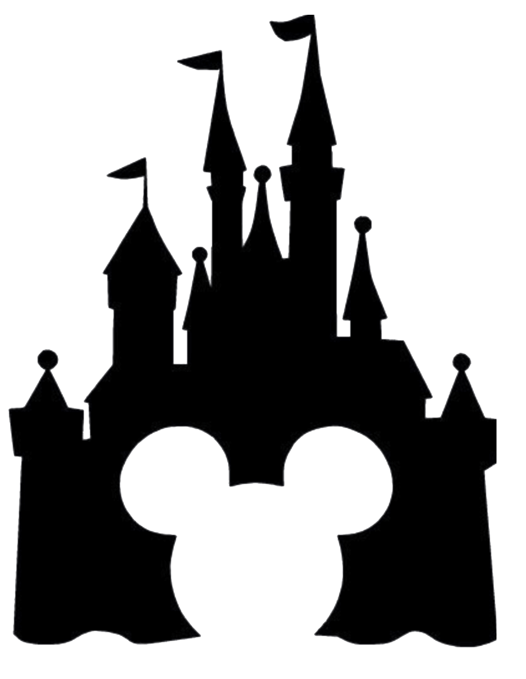 Disney Castle Silhouette transparent 1