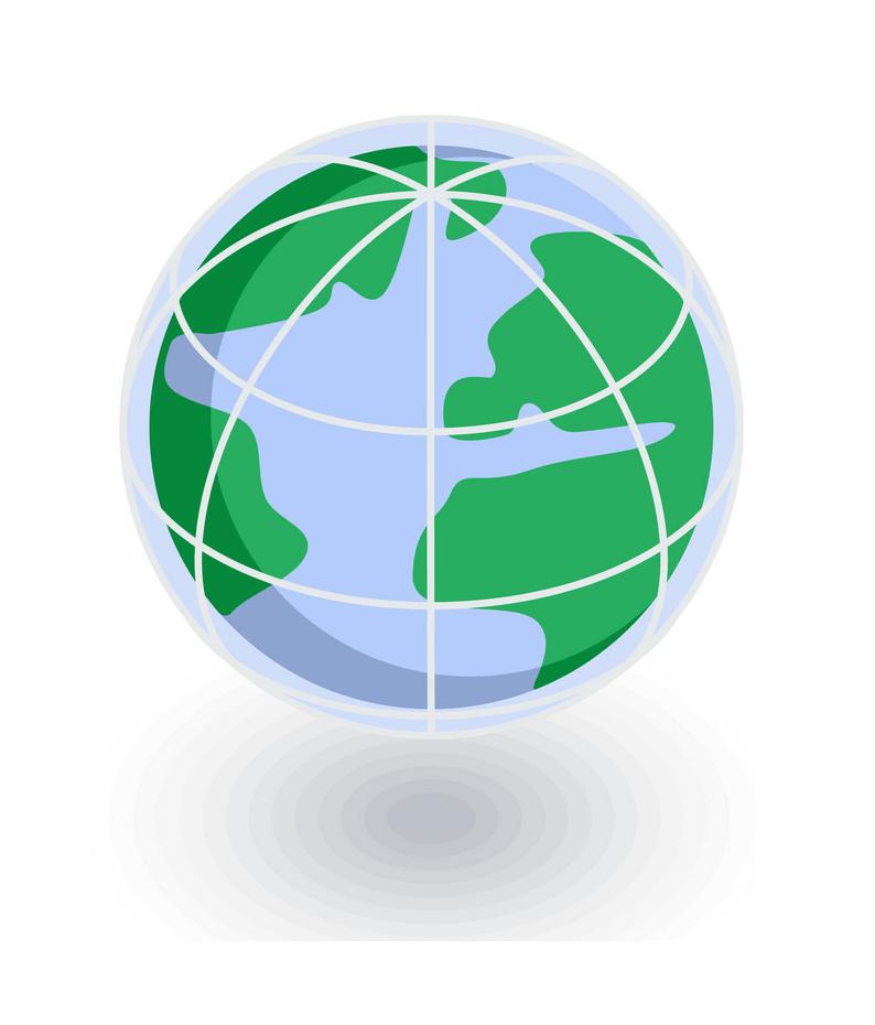 Earth Globe Icon clipart
