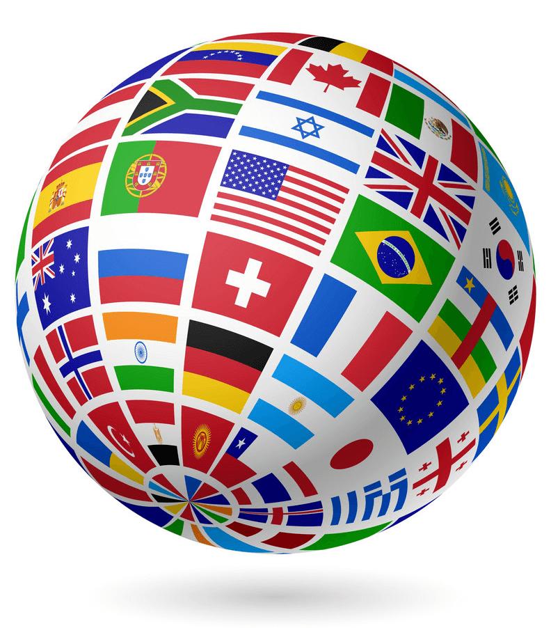 Flags Globe clipart