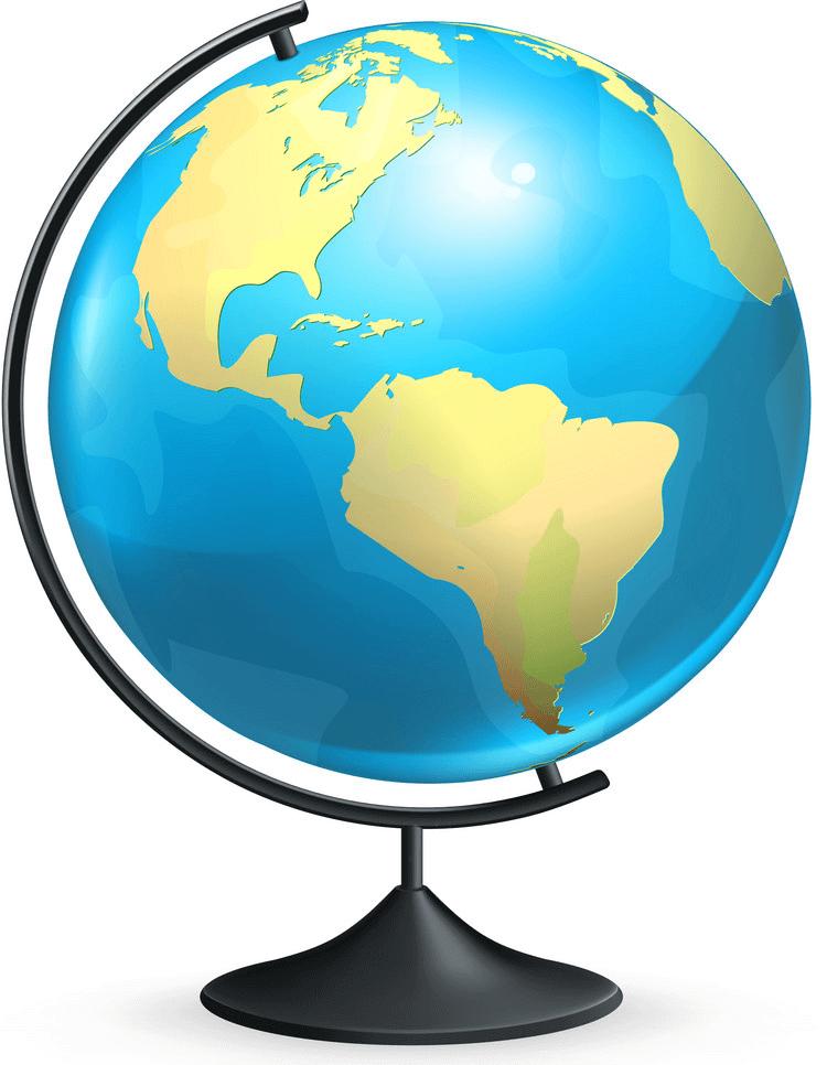 Globe clipart 4