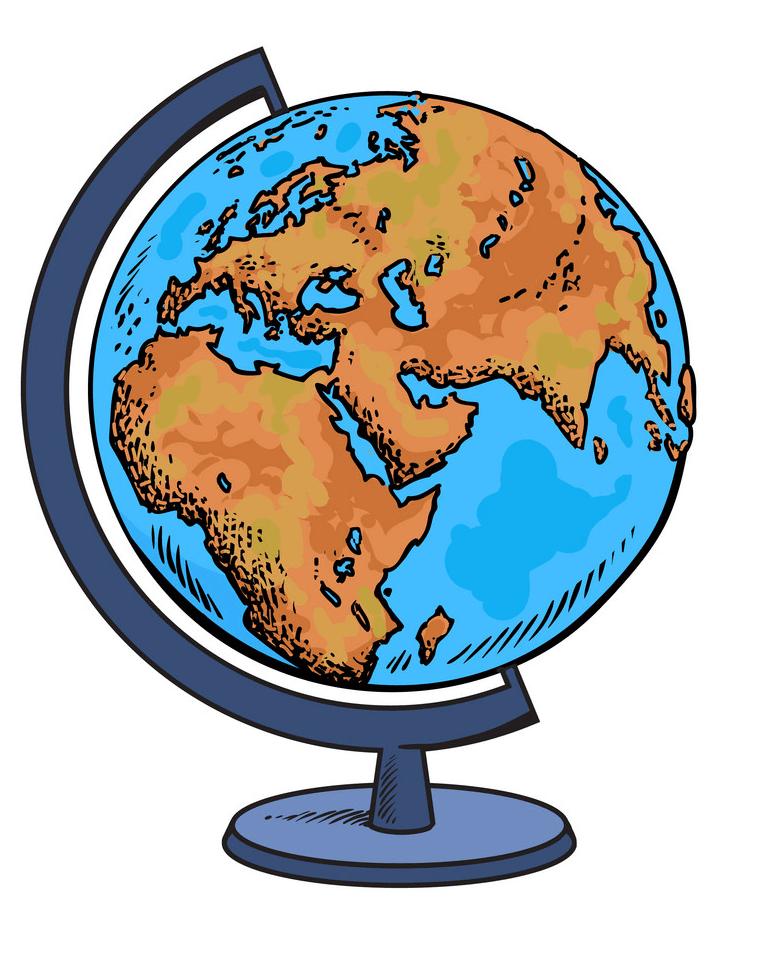 Globe clipart 6