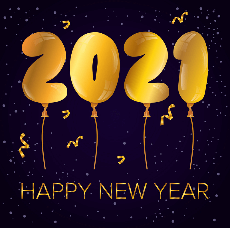 Happy New Year 2021 Celebration clipart