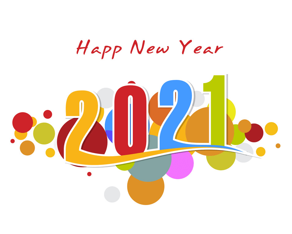 Happy New Year 2021 clipart 2