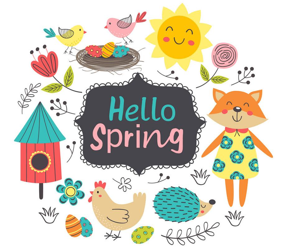 Hello Spring clipart 1