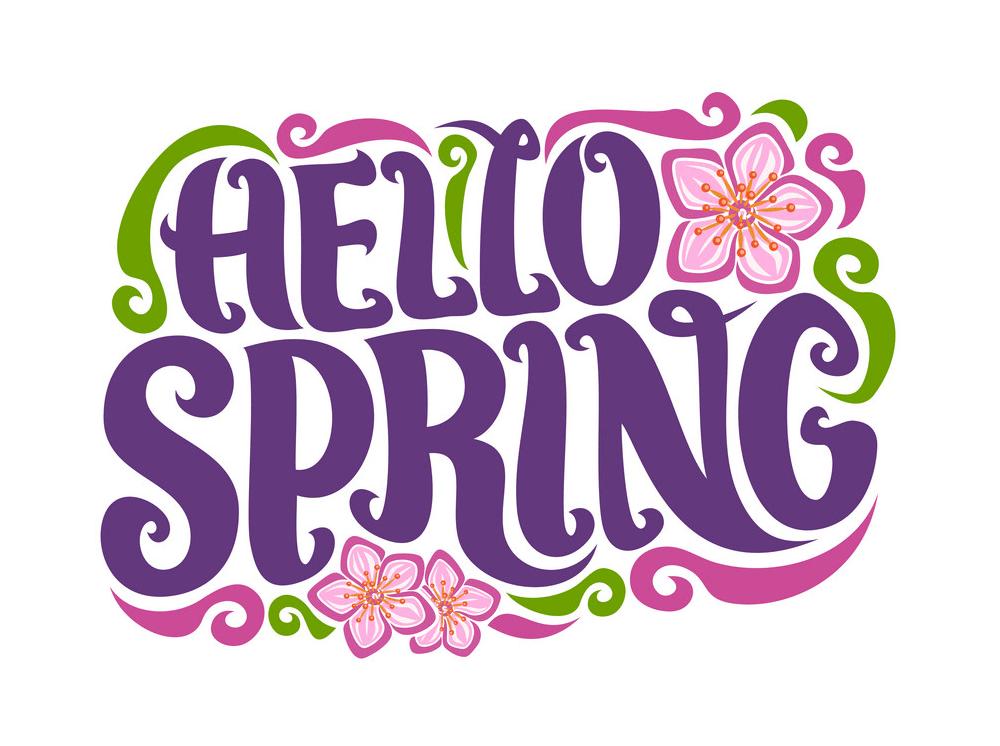 Hello Spring clipart 2