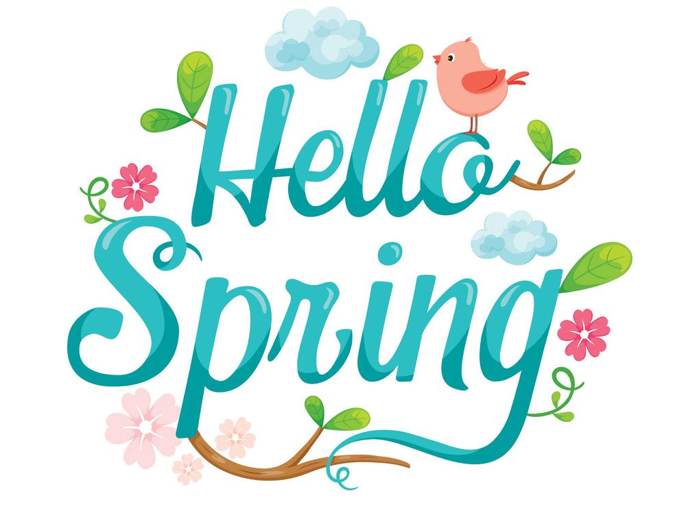 Hello Spring clipart