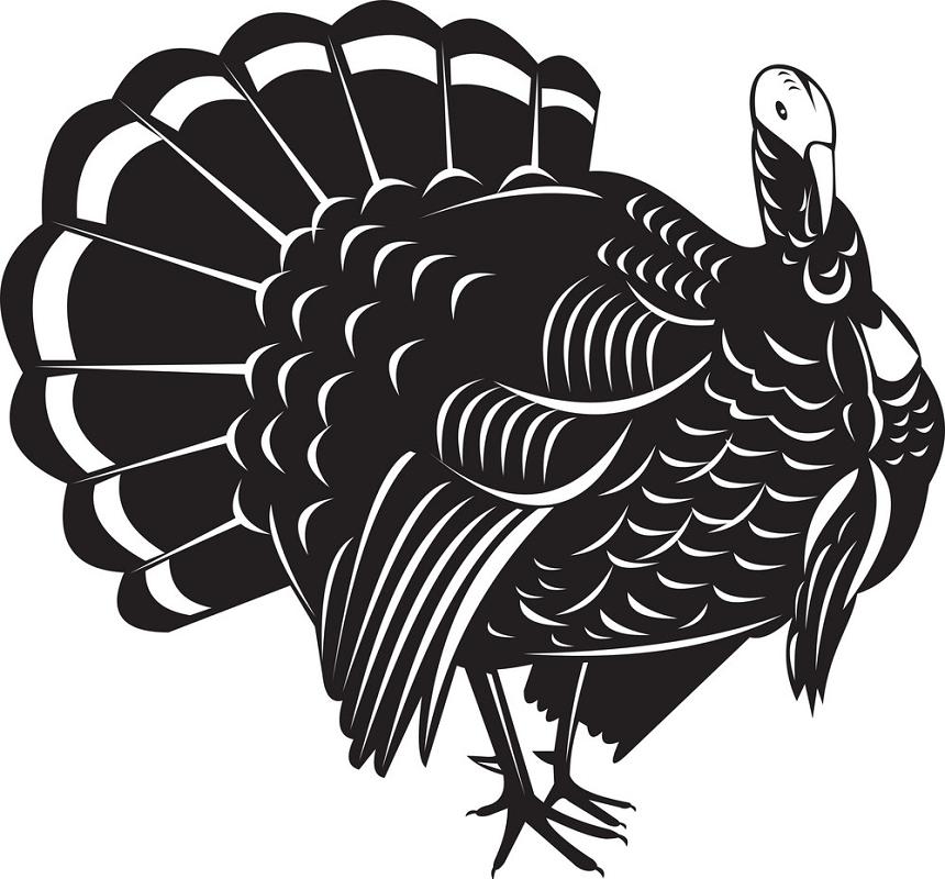 Retro Turkey clipart