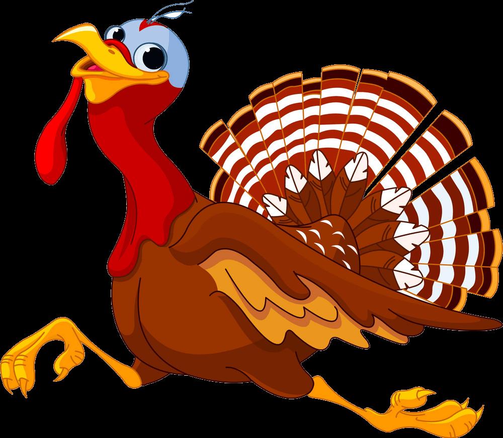 Running Turkey clipart transparent