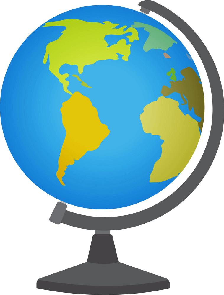 School Desktop Globe clipart