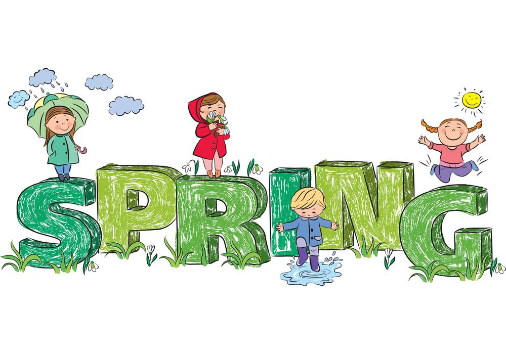 Spring Kids clipart