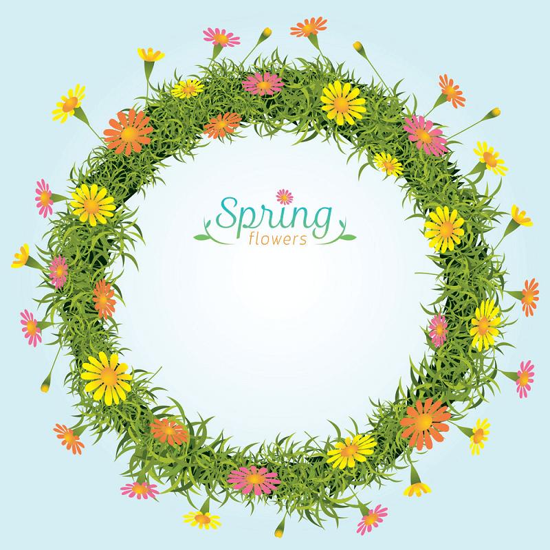 Spring Wreath clipart