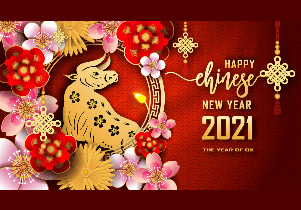 The Year of Ox 2021 clipart