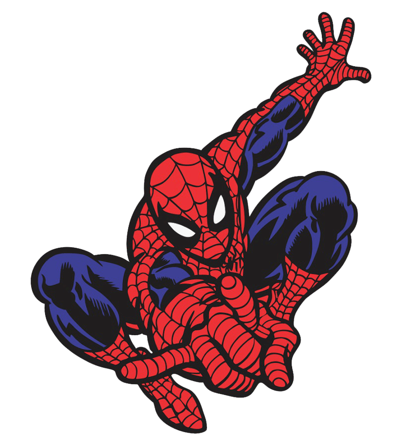 Action Spiderman clipart tranparent
