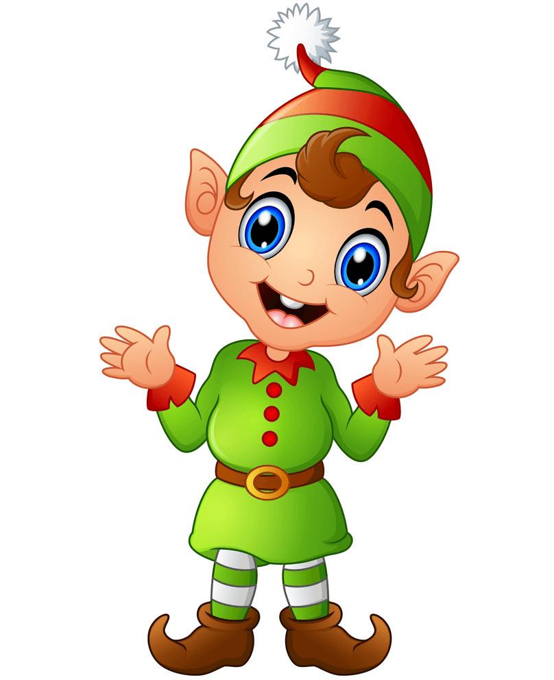 Adorable Christmas Elf clipart