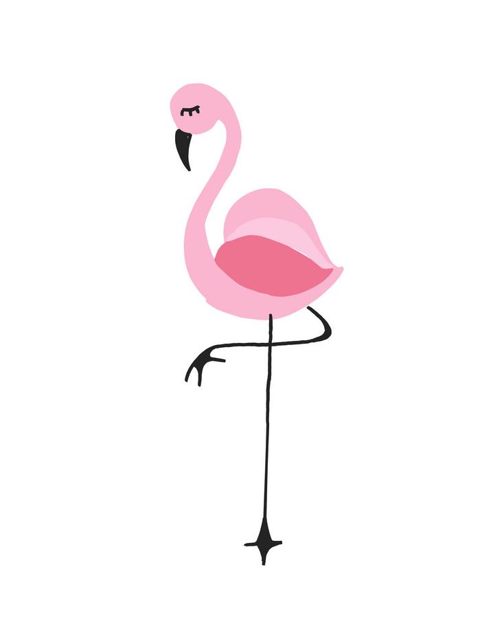 Adorable Flamingo clipart